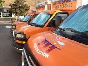 Water Damage West Memphis Vans Parked