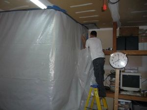 Water Damage Germantown Tech Sealing In Mold With A Vapor Barrier