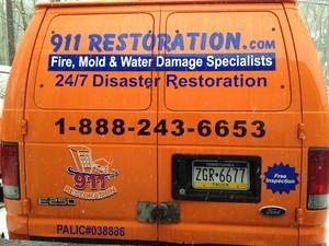 Water Damage Restoration Back Of Van